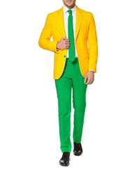Opposuits Green And Gold Two Tone Suit Multicolor