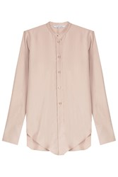 Helmut Lang Silk Collarless Blouse Rose