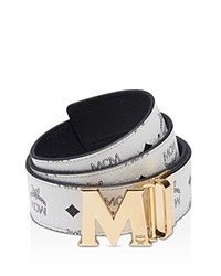 Mcm Claus Reversible Belt White
