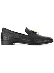 Giuseppe Zanotti Design Spacey Slippers Men Cotton Calf Leather Leather 40 Black