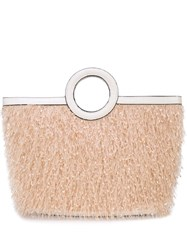 Christian Siriano Textured Top Handle Tote Neutrals