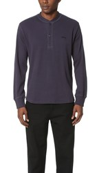 Stussy Stock Thermal Henley Charcoal