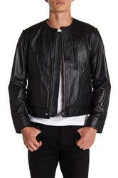 Y 3 Perforated Genuine Leather Jacket Black