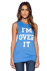 Local Celebrity I'm Over It Muscle Tank Blue