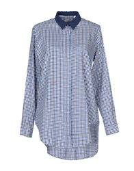 Manuel Ritz Shirts Bright Blue