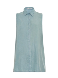 Acne Studios Ash Fluid Sleeveless Denim Shirt