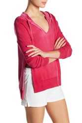 Pam And Gela V Neck Hoodie Red