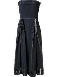 Dion Lee Pleated Perforated Dress Black
