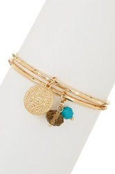 Madison Parker Charm And Bead Bangle Set Blue
