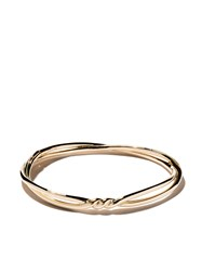 David Yurman 18Kt Yellow Gold Continuance Center Twist Bangle Metallic