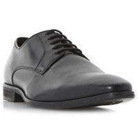 Dune Piccadilly Chisel Plain Vamp Leather Derby Shoes Black