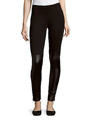 French Connection Skinny Fit Solid Leggings Black