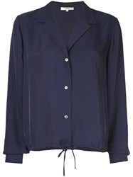 Vince Drawstring Shirt Blue