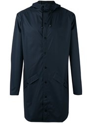 Rains Zipped Coat Blue