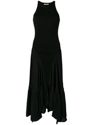 Roberto Cavalli Flared Maxi Dress Black