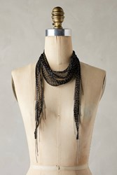 Anthropologie Polka Dotted Skinny Scarf Black