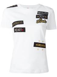 Red Valentino Patches T Shirt White