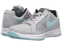 Nike Air Vapor Ace Wolf Grey Still Blue White Black Women's Tennis Shoes Gray