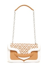 Sondra Roberts Quilted Shoulder Bag Beige