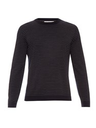 Brunello Cucinelli Striped Wool And Cashmere Blend Sweater