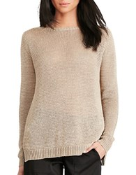 Polo Ralph Lauren Open Knit Boatneck Sweater Natural