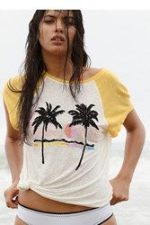 We The Free Womens Island Palm Tree Tee