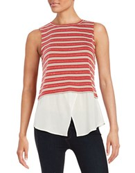Sanctuary Striped Layer Shell Red Stripe