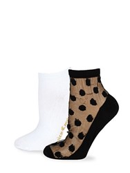 Juicy Couture Two Pack Ankle Socks Black