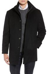 John W. Nordstrom Big And Tall Hudson Wool Car Coat Black