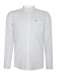 Merc Mens Long Sleeved Oxford Button Down Shirt White