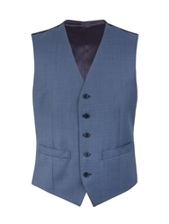 Alexandre Savile Row Pick And Pick Regular Fit Waistcoat Blue