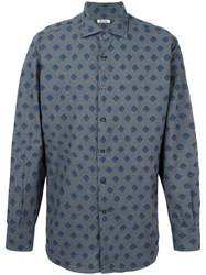 Roda Geometric Pattern Shirt Grey