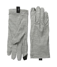 Smartwool Nts Mic 150 Pattern Glove Silver Grey Heather Liner Gloves Gray