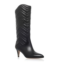 Gucci Nina Quilted Boots 65 Female Black