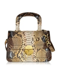 Ghibli Golden Brown Python Shoulder Bag