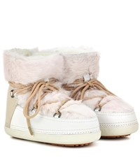 Inuikii Rabbit Low Fur Lined Leather Boots Neutrals