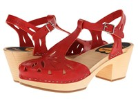 Swedish Hasbeens Lacy Sandal Red High Heels