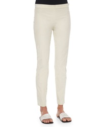 The Row Stretch Corduroy Cropped Leggings Natural
