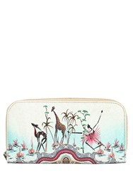 Etro Safari Printed Coated Canvas Zip Wallet