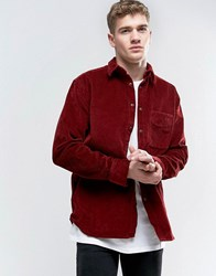 Nudie Jeans Co Calle Corduroy Shirt Corduroy Red