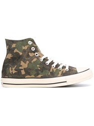 Converse All Star Camouflage Hi Tops Green
