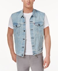 Levi's Men's Denim Trucker Vest Mercury
