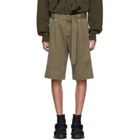 J.W.Anderson Jw Anderson Khaki Washed Belted Shorts