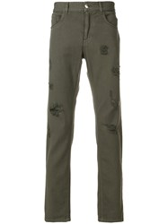 Versus Distressed Jeans Cotton Green