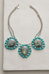Anthropologie Mai Bib Necklace Turquoise