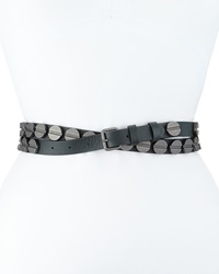 Haute Hippie Long And Winding Road Belt Asphalt Gunmetal