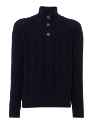 Army And Navy Trekker Funnel Neck Navy