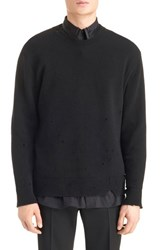 Givenchy Men's Destroyed Wool Sweater