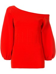 Ginger And Smart Valour Crepe Knit Top Red