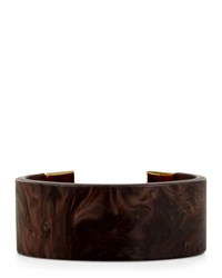 Jaeger Resin Wood Effect Cuff Brown